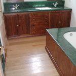 Mueble de baño en nogal de avila