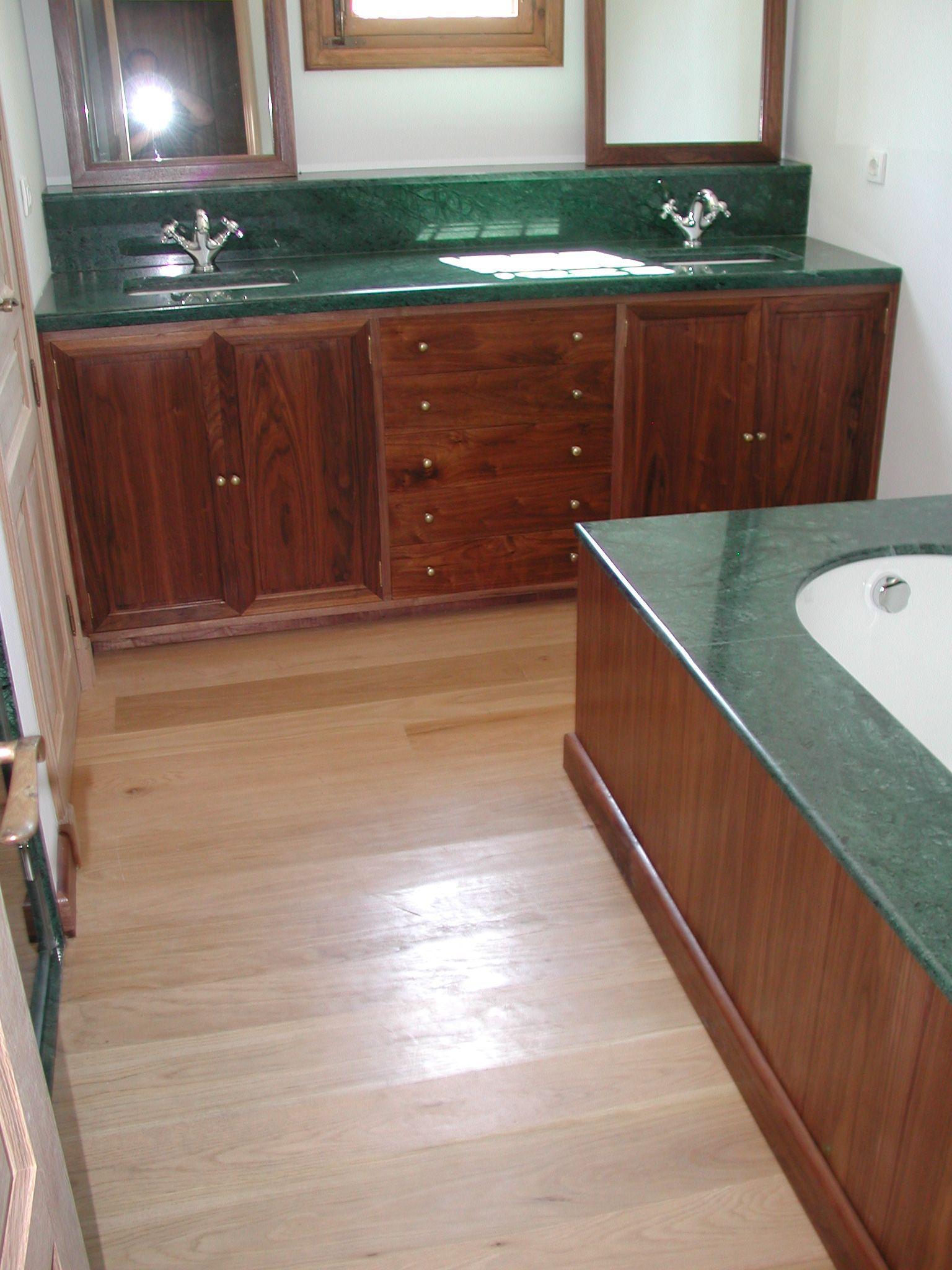 Mueble de ba o a medida de nogal americano ebanister a y restauraci n - Nogal americano muebles ...