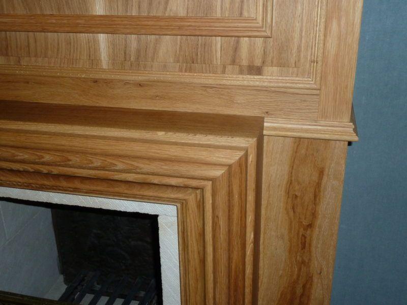 frente de chimenea de madera