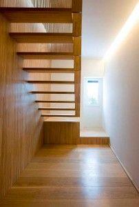 escalera colgada