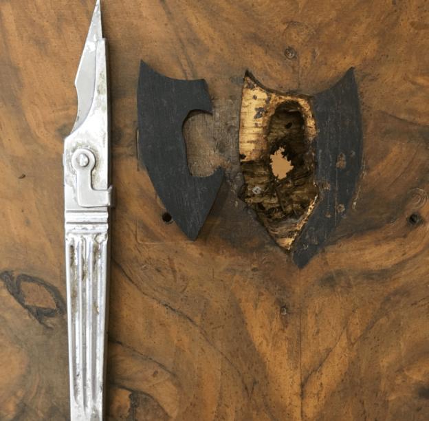 Restauración de boca llave de ebano
