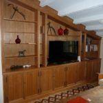 libreria en madera de cerezo