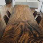 mesa de reunion en madera de Bocote