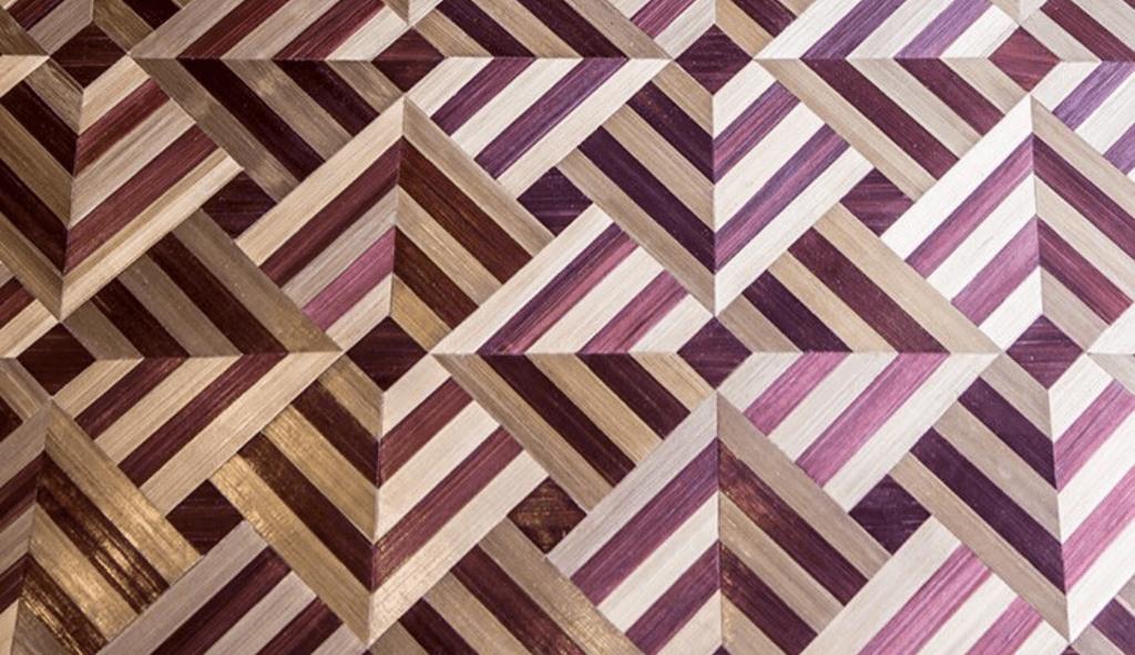 marquetería geométrica
