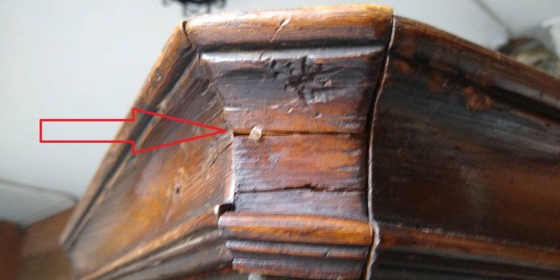 restauración de moldura