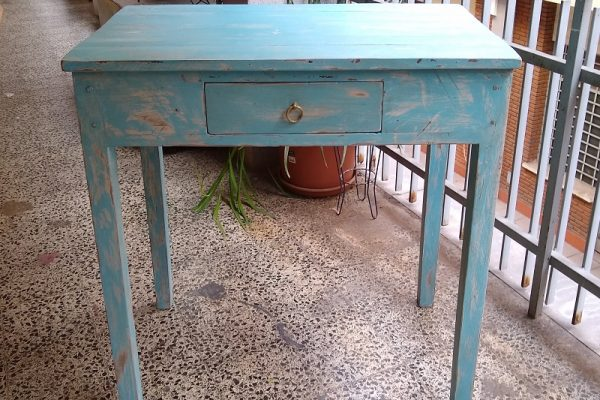 mesa auxiliar rustica
