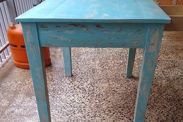 mesa pintada chalk paint